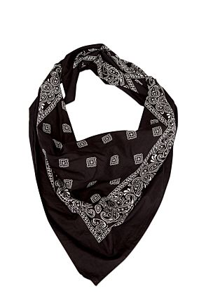 Black Big Bandana