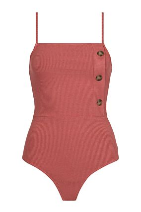 Pink Buttoned Bodysuit