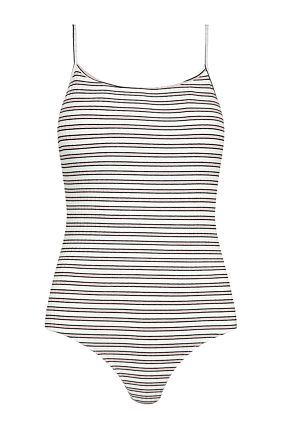 White Striped Bodysuit