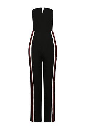 Black Side Stripe Jumpsuit