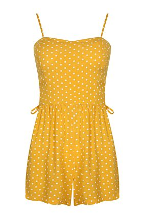 Yellow Polka Dot Playsuit