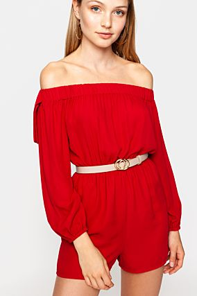 Red Playsuit