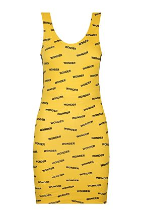 Yellow Side Stripes Dress