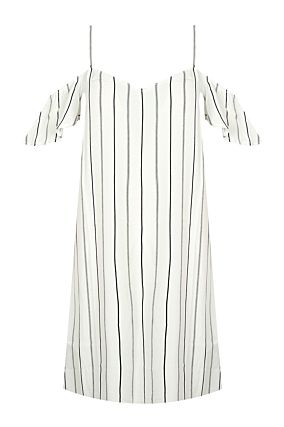 White Striped Dress