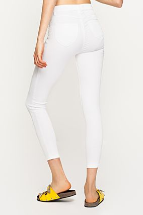 White High Waist Trousers