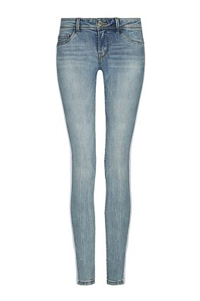 Jeans Skinny con Bande Bianche