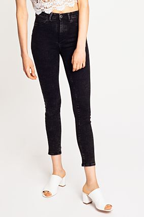 Schwarze Push-Up Jeans