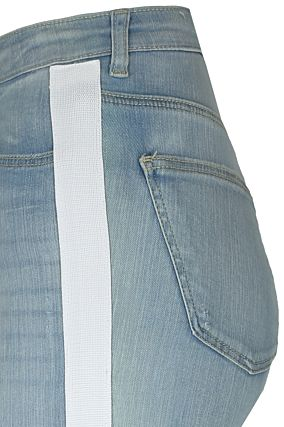 Side Stripe High Waist Jeans
