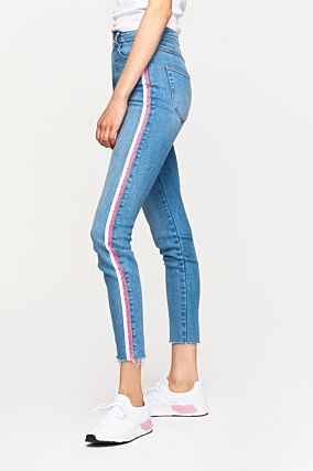 High Waist Destroy Jeans