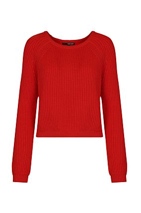 Red Knitted Jumper