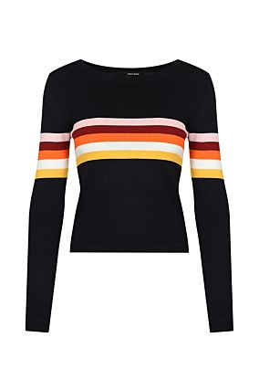 Black Striped Jumper