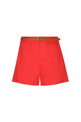 Red Belted Shorts