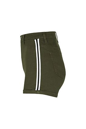 Khaki High Waist Shorts