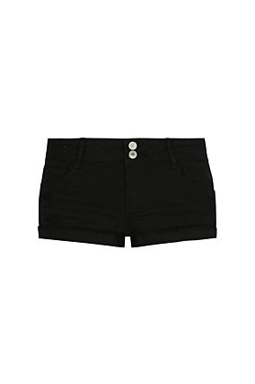 Mini Short Noir à Bandes