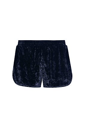 Dark Blue Velvet Shorts