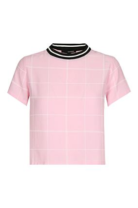 Pink Checked Top