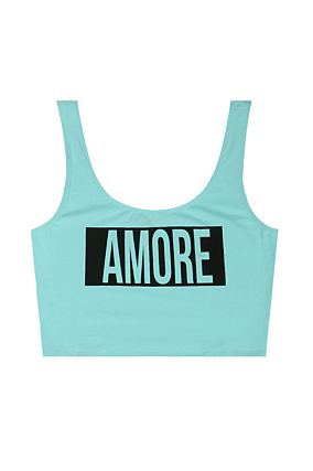 "Blue ""Amore"" Crop Top"