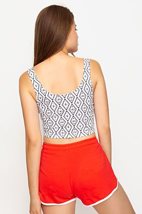 "White ""Playa"" Crop Top"