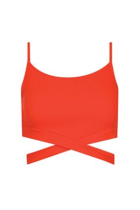 Orangefarbenes Crop-Top