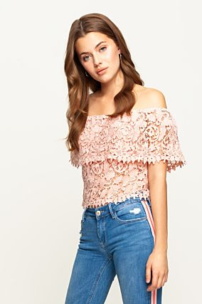 Top Rose en Crochet