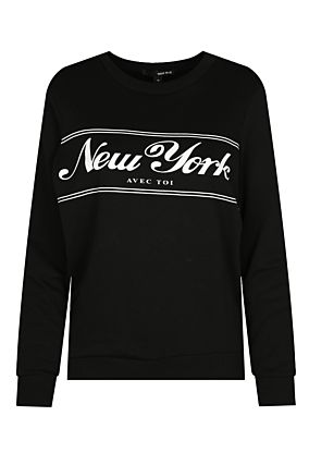 "Black ""New York"" Sweatshirt"