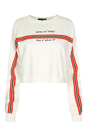 White Striped Sweatshirt