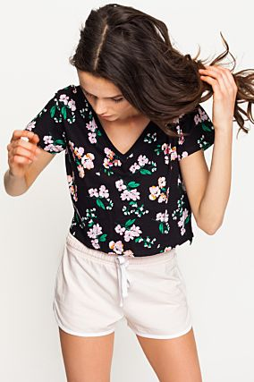 Crop Top Fleuri