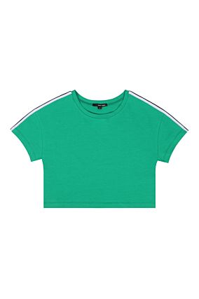 Green Top with Side Stripe