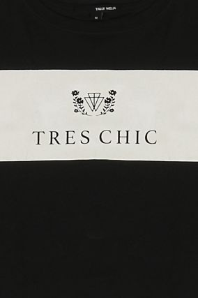 "Black "" Très Chic "" Crop Top"