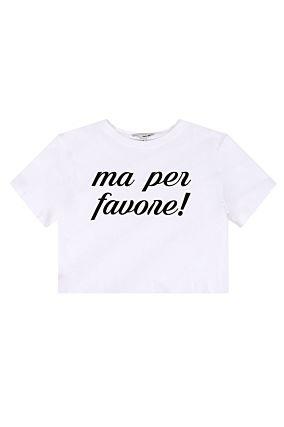 """ Ma per Favore !"" Crop Top"