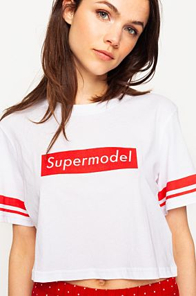 "White ""Supermodel"" Top"