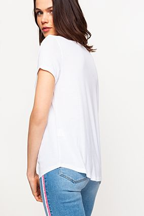 T-shirt Bianca con Stampa
