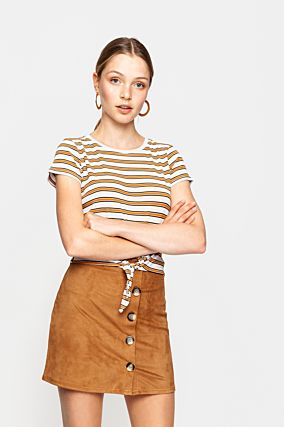 Mustard Striped Top