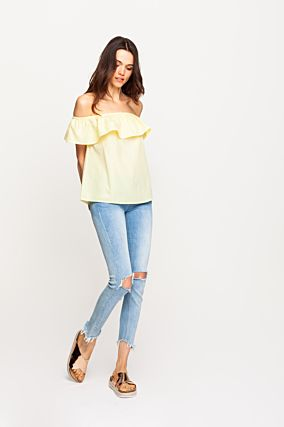 Yellow Ruffle Top