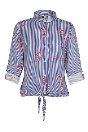 Floral and Stripe Shirt