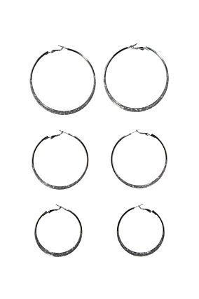 3 Pack Hoop Earrings