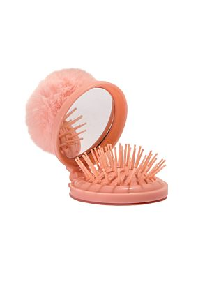 Folding Hair Brush and Mirror Combo