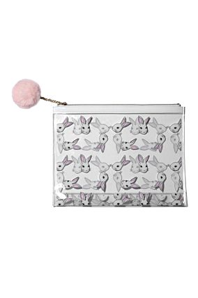 Make Up Pouch with Bunnies