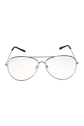 Geeky Metal Frame Aviator With Clear Lens