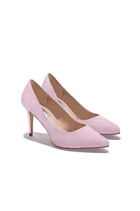 Pink Heeled Court Shoes