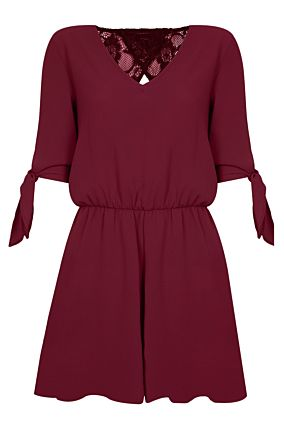 Burgundy Playsuit