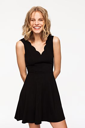 Black Scallop Dress