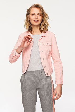 Pinke Denim Jacke