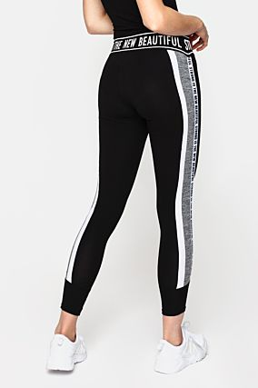 Black Slogan Leggings