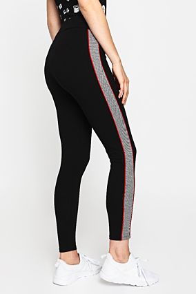 Black Side Stripe Leggings