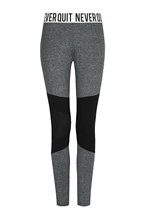 Grey and Black Leggings