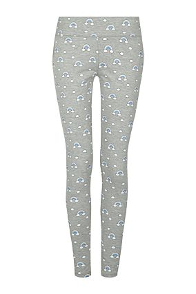 Grey Legging with Rainbow Print
