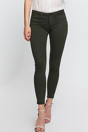 Green Low Waist Push Up Trousers