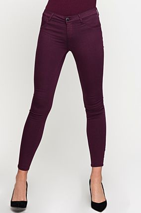 Dark Red Skinny Trousers