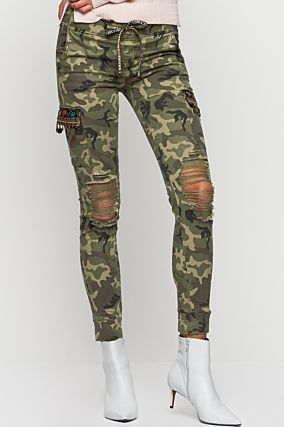 Camouflage Skinny Trousers